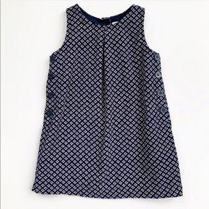 Baby Gap Lightweight Corduroy Navy Floral Dress